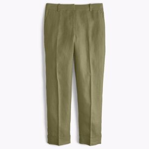 NWT J. Crew Rhodes Pant - Olive Green